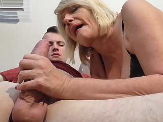 Mature hottie Amy likes it when a young guy drills her pussy