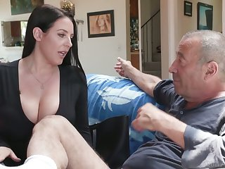 Legendary bastard Rocco fucks the shit out be advisable for asshole belonged to Angela White