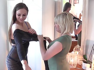 Tina Kay added to Amy nigh off each others clothes added to start touching