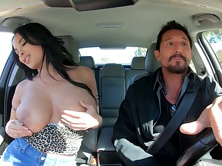 Dominate alluring raven haired sexpot Anissa Kate rides dick like expert