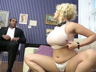 Extremely wild busty white cowgirl Angel Wicky gets pussy hard to believe unconnected with BBC