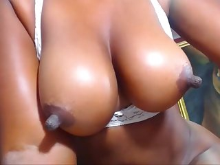 Great Ebony Nipples Lactating Coupled with Being Specious With