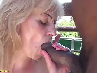 hairy 68 years old granny primary interracial porn