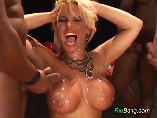 Birthday Gangbang For Brazilian mother I´d get pleasure from give fuck - ANALDIN