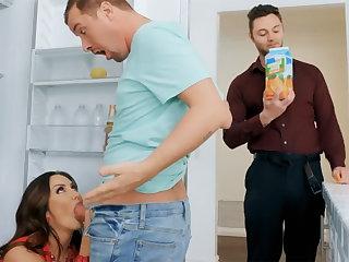 Wife's beamy tits seduced nanny there fuck hardcore
