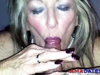 Old British Harpy Blowjob 2