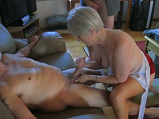 My horny old wifey is an amazing woman who loves almost jack me off on camera