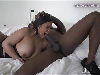 Bbw Very Busty Ebony Fucks & Swallows