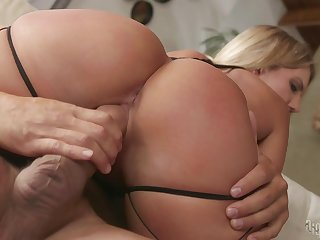 Erotic lovemaking video with cum swallowing blonde MILF Candice Dare