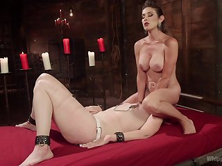 Excellent femdom leads these two to infatuated orgasms