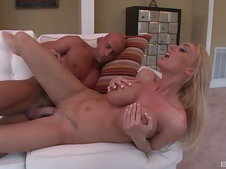 Naked tyro blonde, seduction and rough porn at dwelling-place