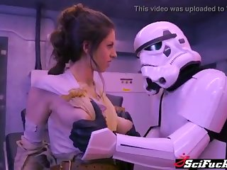 Stella Cox got her cooch plumbed down Starlet Wars porno parody